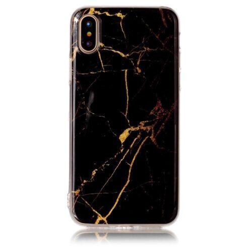 Marble Black iPhone X márványdizájn tok