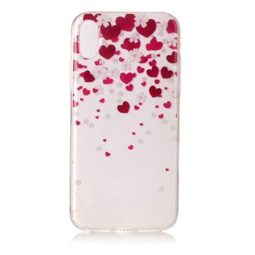 Heart iPhone X egyedi szívecske mintás tok