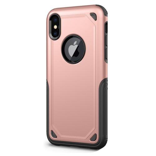 Armor Rose iPhone X rózsaszín hybrid védőtok